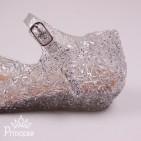 Фото: Силиконовые балетки Эльзы для девочки (артикул 1086-white) - изображение