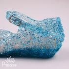 Фото: Голубые балетки Эльзы из силикона (артикул 1086-blue) - изображение