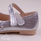 Фото: Серебристые туфельки Elza для девочки (артикул 1087-silver) - изображение