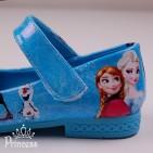 Фото: Яркие туфли в стиле Frozen (артикул 1088-blue) - изображение