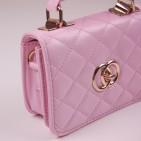 Фото: Брендовая сумочка для девочки розового цвета (артикул A 30072-light pink) - изображение