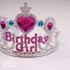 Фото: Детская праздничная корона  Birthday Girl (артикул 1097-silver) - изображение