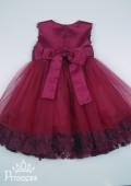 Фото: Шикарное платье цвета марсала (артикул 3119-wine) - изображение