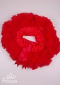 Фото: Пышная юбка для девочки красного цвета (артикул O 50317-red) - изображение