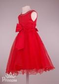 Фото: Красивое детское платье со стразами (артикул 3028-red) - изображение