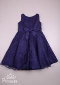 Фото: Темно-синее платье с кружевом (артикул 3102-deep blue) - изображение