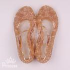 Фото: Золотистые силиконовые босоножки  (артикул 1086-gold) - изображение