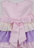 Фото: Нарядное платье с цветными рюшами (артикул 3049-colored) - изображение