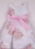 Фото: Белое платье для девочки с нежными цветами (артикул 3093-flowers ) - изображение