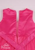 Фото: Нарядное воздушное платье для девочки кораллового цвета (артикул 3089-coral) - изображение