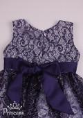 Фото: Шикарное кружевное платье для девочки  (артикул 3122-deep blue) - изображение