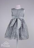 Фото: Детское платье с жемчужными бусинами (артикул 3122-grey) - изображение