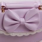 Фото: Красивая сумочка для девочки нежно-фиолетового цвета (артикул A 30049-violet) - изображение