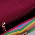 Фото: Сумочка в разноцветную полоску (артикул A 30065-beige) - изображение