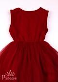 Фото: Детское платье бордового цвета  с пайетками (артикул 3085-wine) - изображение