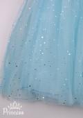 Фото: Голубое платье для девочки с изображением любимых принцесс (артикул 3133-blue) - изображение