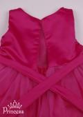 Фото: Яркое платье с цветком на талии для девочки (артикул 3074-pink) - изображение