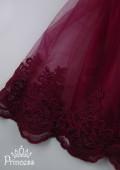 Фото: Детское платье цвета марсала (артикул 3130-wine) - изображение