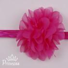 Фото: Нарядная детская повязка с цветком  (артикул 1114-pink) - изображение