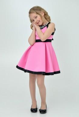Неоновое настроение: яркое детское платье на праздник