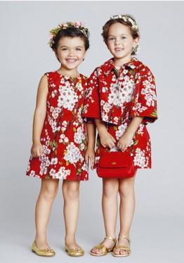 Детские платья с цветочным принтом