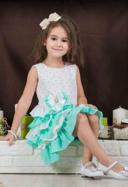 Декор детского платья: рюши, воланы, оборки
