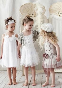 Варианты декора нарядных детских платьев